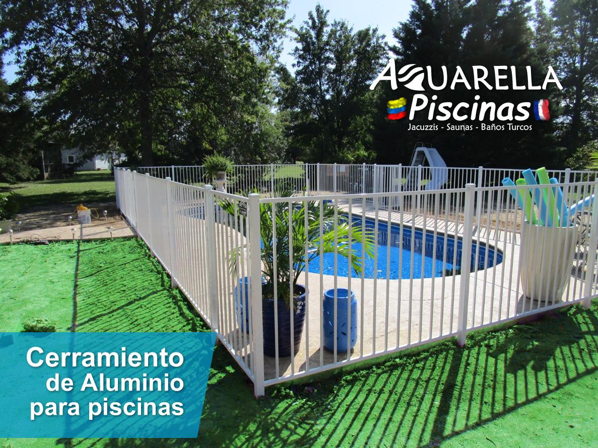 cerramiento de aluminio para piscinas